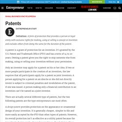Patents - Small Business Encyclopedia