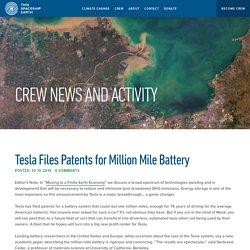 Tesla Files Patents for Million Mile Battery
