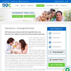 Paternity Trio DNA Test - DNA Diagnostics and Genetic Center