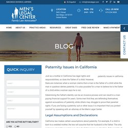 Paternity Issues in California