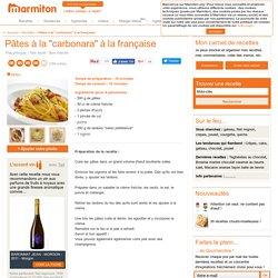Pâtes à la carbonara : Recette de Pâtes à la carbonara