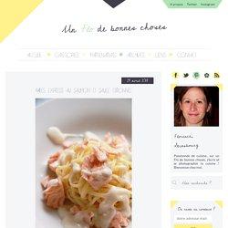 Pâtes express au saumon et sauce citronnée