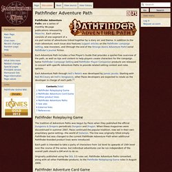 Pathfinder Adventure Path - PathfinderWiki