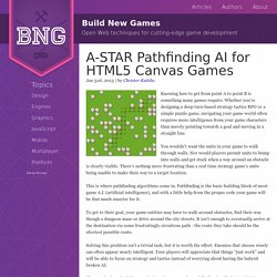 A-STAR Pathfinding AI for HTML5 Canvas Games