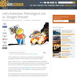 Life's Extremes: Pathological Liar vs. Straight Shooter