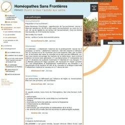 Les pathologies - Homéopathes Sans Frontières - France