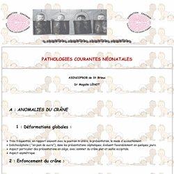 Pathologies courantes neonatales