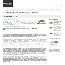 Patient Portal Market Worth 2.74 Billion USD by 2020 /PR Newswire India/