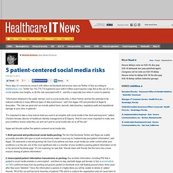 5 patient-centered social media risks