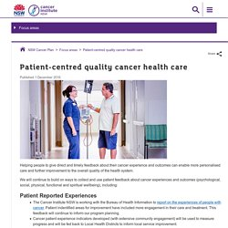 Patient-centred quality cancer health care - Cancer Institute NSW
