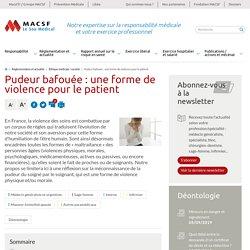 Patient pudeur bafouée - MACSF Exercice professionnel
