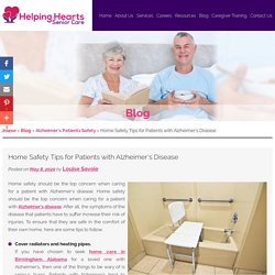 Home Safety Tips for Patients with Alzheimer's Disease