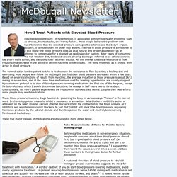 How I Treat Patients with Elevated Blood Pressure - McDougall Newsletter November 2009