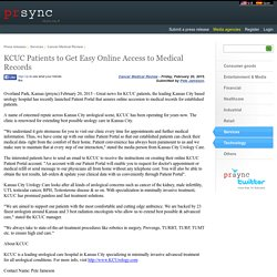 KCUC Patients to Get Easy Online Access to Medical Records