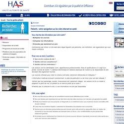Patients : votre navigation sur les sites Internet en santé