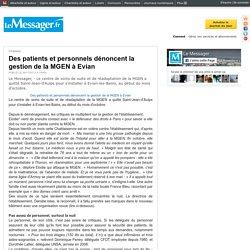 Des patients et personnels dénoncent la gestion de la MGEN à Evian
