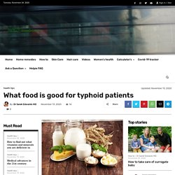 What food is good for typhoid patients