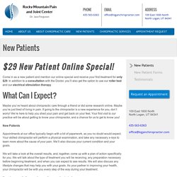 New Patients - Rocky Mountain Pain and Joint Center