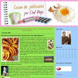 Leçon de pâtisserie: Pas à pas je confectionne des croissants pour mon petit déjeuner !