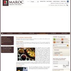 Cuisine et patisserie marocaines, thé - Office National du Tourisme Marocain