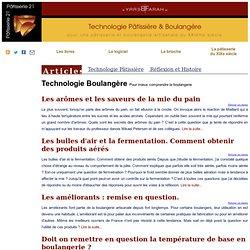 Technologie Pâtissière Boulangère