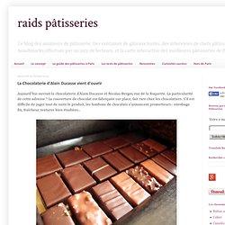 La Chocolaterie d'Alain Ducasse vient d'ouvrir