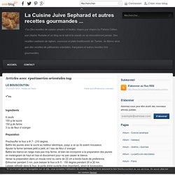 patisseries orientales - La Cuisine Juive Sepharad et autres recettes gourmandes ...