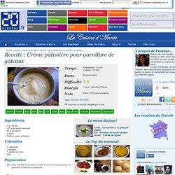 Recette Crème pâtissière pour garniture de gâteaux