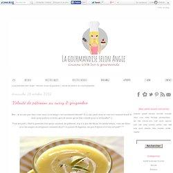 Velouté de pâtisson au curry & gingembre