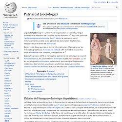 Patriarcat (sociologie)