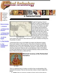 2 - Patriarchal Age Biblical archeology (Archaeology ) Truthnet