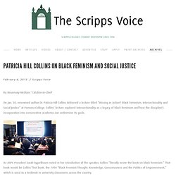 Patricia Hill Collins on black feminism and social justice — The Scripps Voice