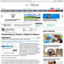 Marketing: Today's Digital Culture