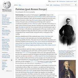 Patrician (post-Roman Europe)
