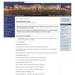 Saint-Patrick's Day - [English website of the Académie de Toulouse]