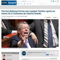 Patrick Balkany ferme son compte Twitter après un tweet lié à l'attentat de Charlie Hebdo