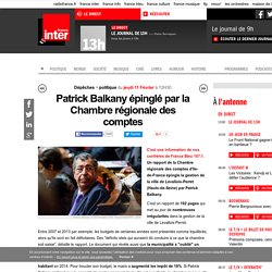 Patrick Balkany épinglé par la Chambre régionale des comptes