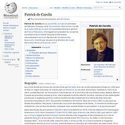 ex. / Patrick de Carolis
