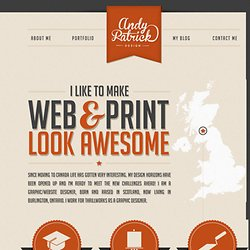 Andy Patrick - Graphic Designer for hire - Ontario, Canada
