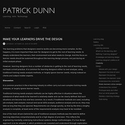 Networked Learning Design - Make learners drive your design