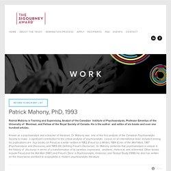 Patrick Mahony author and editor of six books