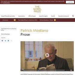Patrick Modiano - Prose