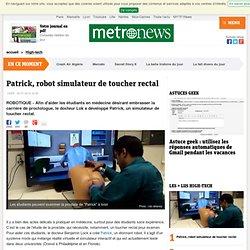 Patrick, robot simulateur de toucher rectal