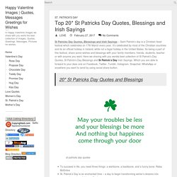 St Patricks Day Quotes, Blessings and Irish Sayings