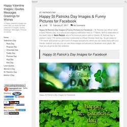 Happy St Patricks Day Images & Funny Pictures for Facebook