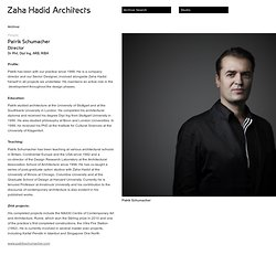 Patrik Schumacher - People - Zaha Hadid Architects