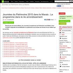 TOURS DE LA CATHÉDRALE NOTRE-DAME DE PARIS Journées du Patrimoine 2015 dans le Marais: Le programme dans le 4e arrondissement