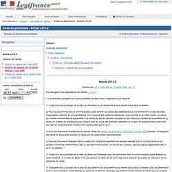 Code du patrimoine - Article L213-2