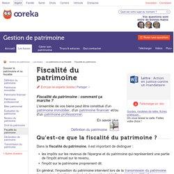 Fiscalité du patrimoine : définition - Ooreka