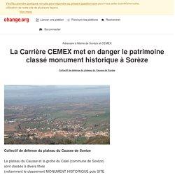 collectif de défence du : une carrière met en danger un patrimoine classé monument historique à Sorèze